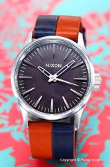 NIXON ニクソン 腕時計 Sentry 38 Leather Dark Copper / Navy / Saddle A3771957 【A377-1957】