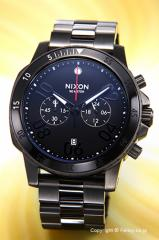NIXON ニクソン メンズ腕時計 レンジャークロノ ガンメタル/ブラック A5491531