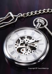 ARCAFUTURA アルカフトゥーラ 懐中時計 メカニカル スケルン ホワイト(ローマン) 5441CPSK