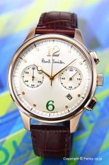 PAUL SMITH ポールスミス 腕時計 メンズ シティ クラシック ツー カウンター クロノグラフ シャンパンゴールド BX2-060-90