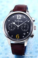 ポールスミス PAUL SMITH メンズ腕時計 BX2-019-52 シティ クラシック ツー カウンター クロノグラフ ブラック