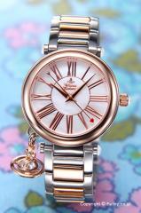 Vivienne Westwood ヴィヴィアン ウエストウッド レディース腕時計  VV006PRSSL Orb (オーブ) ホワイトパール×ローズゴールド