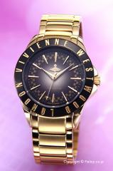 Vivienne Westwood ヴィヴィアン ウエストウッド レディース腕時計 ウェストミンスター2 ブラック×ゴールド VV099BKGD