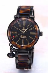 ヴィヴィアンウエストウッド 腕時計 オーブ ブラック×トートイズ レディース VV006BKBR