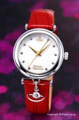 ヴィヴィアンウエストウッド 腕時計 Trafalgar (トラファルガー) ホワイトシルバー×レッド VV108WHRD
