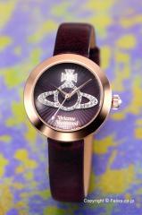 ヴィヴィアンウエストウッド 腕時計 Queensgate (クイーンズゲート) パープル×ローズゴールド VV150RSPP