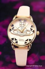 ヴィヴィアンウエストウッド 腕時計 Leadenhall (リーデンホール) ホワイトピンク×ゴールド VV163BGPK