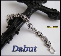 【DB】シルバーブレスレット(2)CZ/6【メイン】シルバー925送料無料