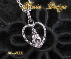 マリアとハートのペンダント(1)銀 銀 メイン
