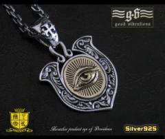 good vibrations(GV)プロビデンスの目のホースシューペンダントSV+B 製馬蹄 蹄鉄 メイン