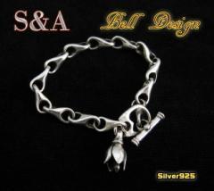 【S&A】シンプルベルブレスレット(1)/シルバー925・銀【メイン】鈴送料無料