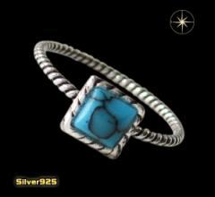 デザインリング(40)ターコイズ07号・09号・11号・13号・15号・17号/(メイン)天然石ターコイズ・トルコ石・送料無料