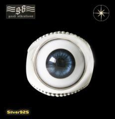 good vibrations【GV】義眼リング(1)青18号フリーサイズ/(メイン)義眼使用・指輪・リング・送料無料
