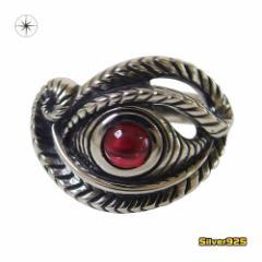 ホルスの目の指輪(1)ガーネット15号フリーサイズ メイン ホルスの目 エジプト 天然石 パワーストーン 神