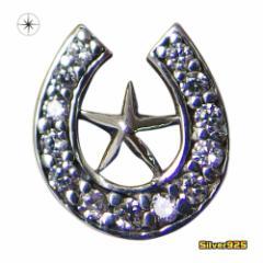 ホースシュースターピアス(2)片耳売り/【メイン】 ホースシュー・馬蹄・蹄鉄・スター・星送料無料