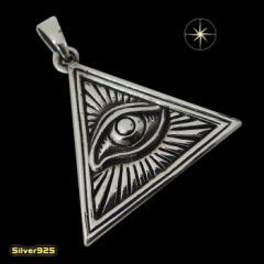 プロビデンスの目のペンダント(4) メイン 銀 ペンダント フリーメイソン 秘密結社 ネックレス