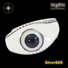 good vibrations【GV】義眼リング(2)13号フリーサイズ/【メイン】 ドールアイ 指輪 メンズ   シルバー925銀