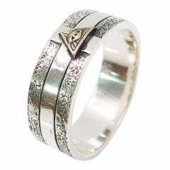 (GV)プロビデンスの目の指輪(10)SV+B13号 15号 17号 19号 21号 メイン 銀 フリーメイソン 指輪 リング