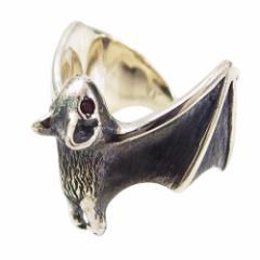 コウモリの指輪(1)RCZ15号フリーサイズ メイン 銀 アクセサリー 動物 鳥 蝙蝠 指輪 リング