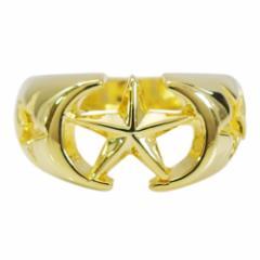 18KGコーティング ブラス製スターリング(20)09号・11号・13号・15号・17号(メイン) 送料無料  スター 星 18金 指輪 リング