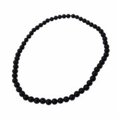 オニキス丸玉4mmブレスレット サイズ選択可14cm 16cm 18cm (メイン) ブレスレット 送料無料 天然石 オニキス