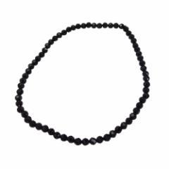 ブラックスピネルカット4mmアンクレット サイズ選択可19cm 20cm 22cm 23cm 24cm  メイン アンクレット 天然石 ブラックスピネル