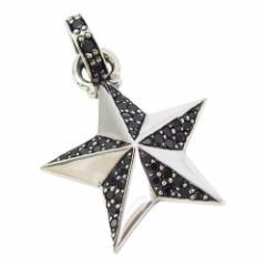 シャイニースター(6)BCZ(メイン)シルバー925 銀 ペンダント ネックレス メンズ レディース 送料無料 スター 星