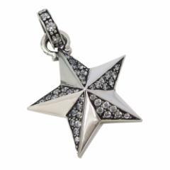シャイニースター(6)CZ(メイン)シルバー925 銀 ペンダント ネックレス メンズ レディース 送料無料 スター 星