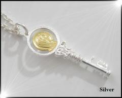マリアキー(2)SV+G カギ カギ メイン ペンダント 銀