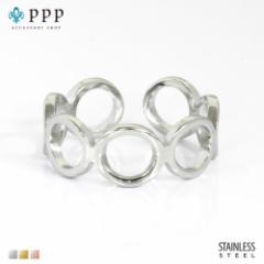 ステンレス リング(132)マル 銀色(メイン) 指輪 金属アレルギー対応 レディース メンズ 送料無料