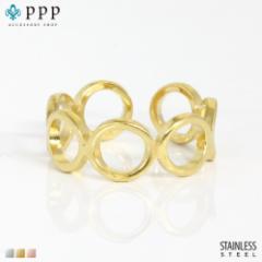 ステンレス リング(132)マル 金色(メイン) 指輪 金属アレルギー対応 レディース メンズ 送料無料