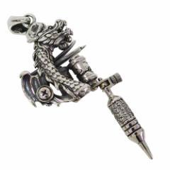 oriental vibrations(OV)タトゥーマシンのペンダント(2)CZ メイン 銀 和風 日本 彫り物