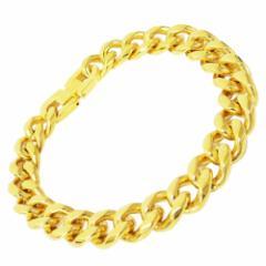 ステンレス 喜平ブレスレット ゴールド 太さ10.5mm20cm メイン サージカルステンレス ゴールドコーティング