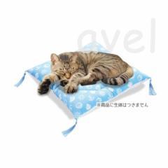 マルカン にゃんこのひんやり涼座布団 【猫 暑さ対策 クール用品 接触冷感生地を使用】