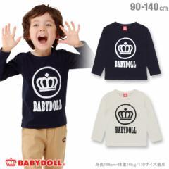 1207FW_SALE50%OFF サークル ロゴ ロンT 1230K ベビードール BABYDOLL 子供服 ベビー キッズ 男の子 女の子