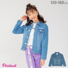 今だけポイント10倍 NEW PINKHUNT ピンクハント デニム ジャケット 1796K ベビードール 子供服 キッズ ジュニア 女の子 小学生 中学生