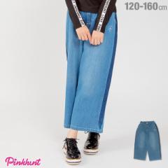 今だけポイント10倍 NEW PINKHUNT ピンクハント ライン デニム ロングパンツ 1798K ベビードール 子供服 キッズ ジュニア ガールズ