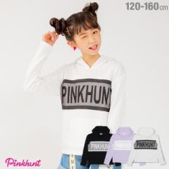 今だけポイント10倍 NEW PINKHUNT ピンクハント メッシュ 切替 パーカー 1801K ベビードール 子供服 キッズ ジュニア 女の子 ガールズ