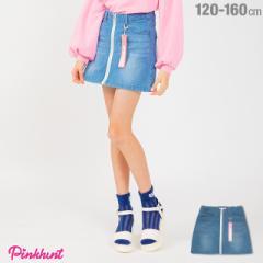 今だけポイント10倍 NEW PINKHUNT ピンクハント 前ジップ スカート 1805K ベビードール 子供服 キッズ ジュニア 女の子 小学生 中学生