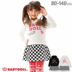 【4/22まで】60%OFF SALE FW ロゴ 貼付 ワンピース 1880K ベビードール 子供服 ベビーサイズ キッズ 男の子 女の子