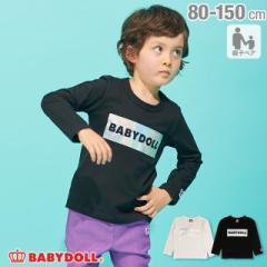 【4/22まで】60%OFF SALE 親子お揃い ホログラム ロゴ ロンT 1906K ベビードール 子供服 ベビーサイズ キッズ 男の子 女の子 0405SS
