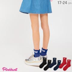 NEW PINKHUNT ピンクハント 透け ストライプ ソックス 2134 ベビードール 雑貨 靴下 キッズ ジュニア 女の子 小学生 中学生 PH