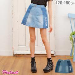 58d38ffe8df1f NEW PINKHUNT ピンクハント 切替デニム スカート 2149K ベビードール 子供服 キッズ ジュニア 女の子 小学生
