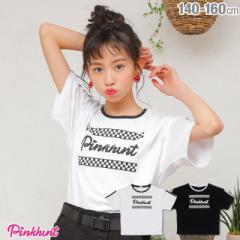 4/8NEW PINKHUNT ピンクハント 袖ライン Tシャツ 2154K ベビードール BABYDOLL キッズ ジュニア 女の子 小学生 中学生