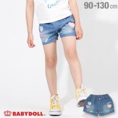 NEW ディズニー ハート キャラクター デニム ショートパンツ 2171K ベビードール 子供服 ベビーサイズ キッズ 男の子 女の子 /DISNEY