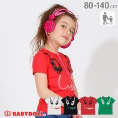 4/8NEW 親子お揃い ヘッドフォン Tシャツ 2263K ベビードール BABYDOLL ベビーサイズ キッズ 男の子 女の子