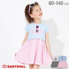 4/22NEW Tシャツ付き ワンピース 2265K ベビードール 子供服 ベビーサイズ キッズ 女の子