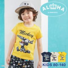 NEW 親子お揃い ディズニー キャラクターサーフ Tシャツ 2281K ベビードール 子供服 ベビーサイズ キッズ