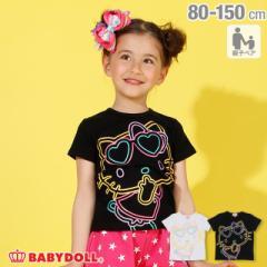 4/5NEW 親子お揃い サンリオ ラメ BIG キャラクター Tシャツ 2290K ベビードール 子供服 ベビーサイズ キッズ 男の子 女の子