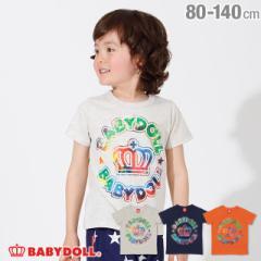 4/3NEW サークル タイダイ ロゴ Tシャツ 2434K ベビードール 子供服 ベビーサイズ キッズ 男の子 女の子